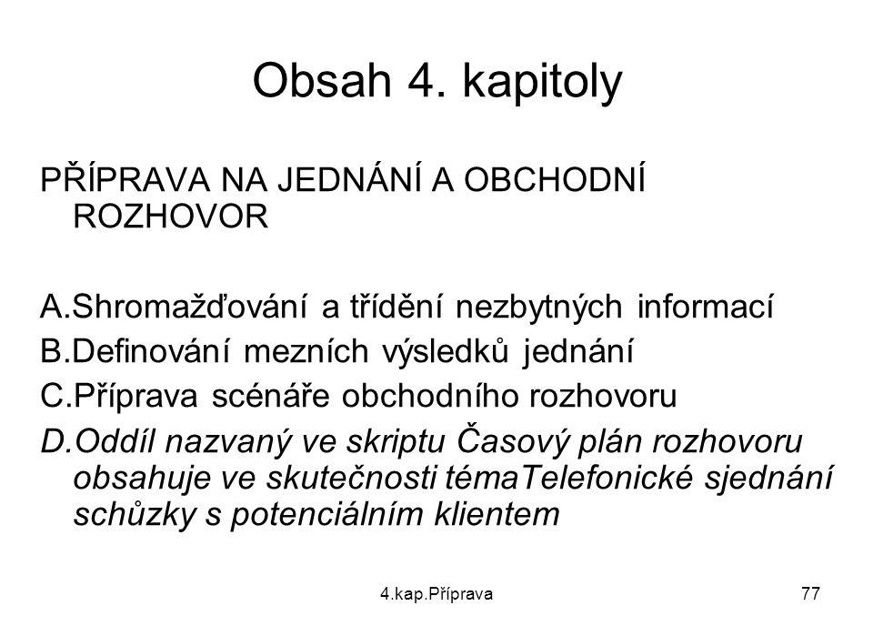 4.kap.Příprava77 Obsah 4.