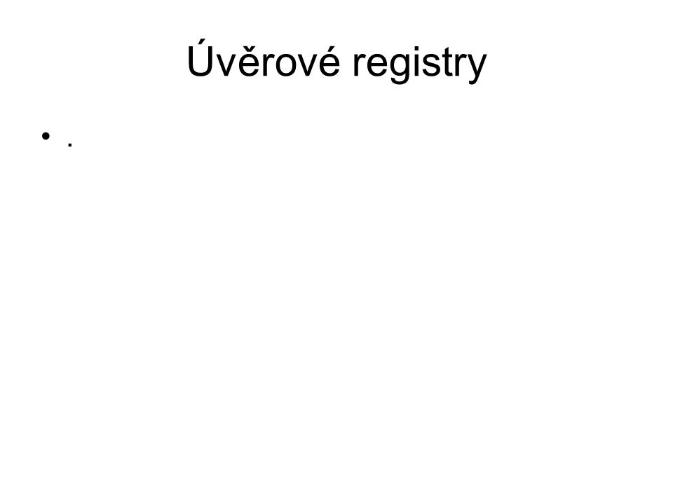 Úvěrové registry.