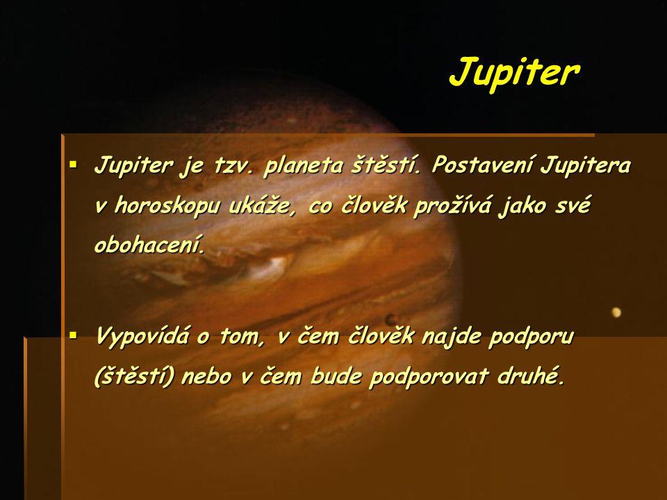 Saturn TTTTato planeta symbolizuje schopnost člověka vymezit si své místo, ale na druhou stranu také znázorňuje omezení člověka, kvůli kterému nemůže dosáhnout svých cílů.