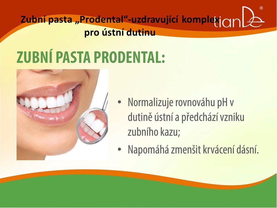 """Zubní pasta """"Prodental""""-uzdravující komplex pro ústní dutinu"""