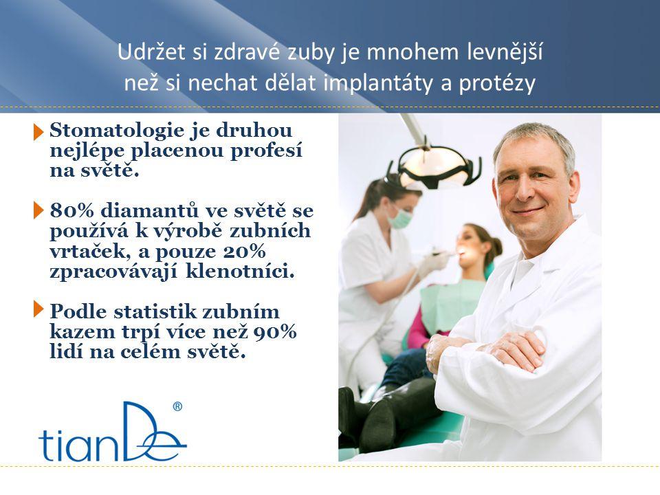 Udržet si zdravé zuby je mnohem levnější než si nechat dělat implantáty a protézy Stomatologie je druhou nejlépe placenou profesí na světě.