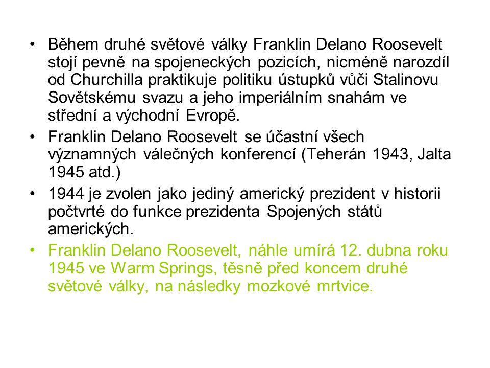 Franklin Delano Roosevelt (30.1.1882 - 12.4.1945) Žena: Šest dětí 1910 F.