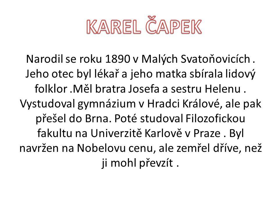 Narodil se roku 1890 v Malých Svatoňovicích.