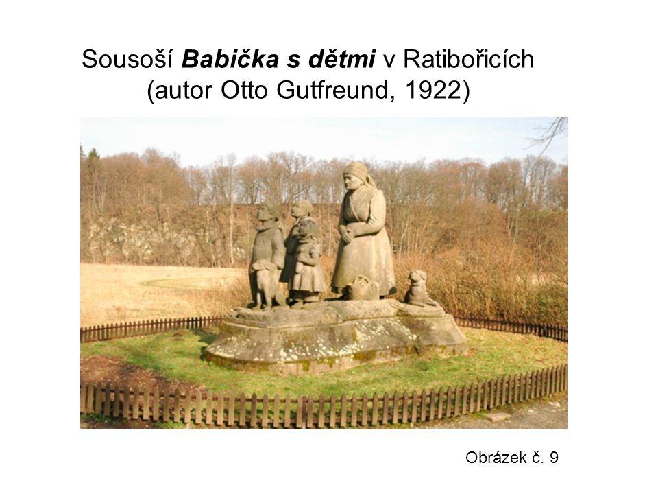 Sousoší Babička s dětmi v Ratibořicích (autor Otto Gutfreund, 1922) Obrázek č. 9