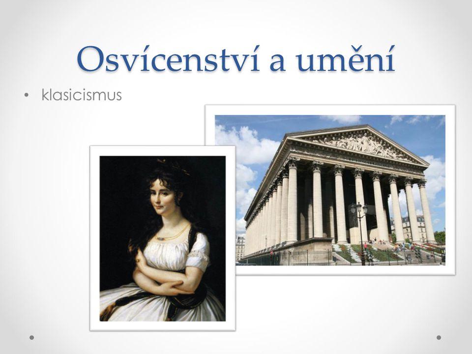 Osvícenství a umění klasicismus