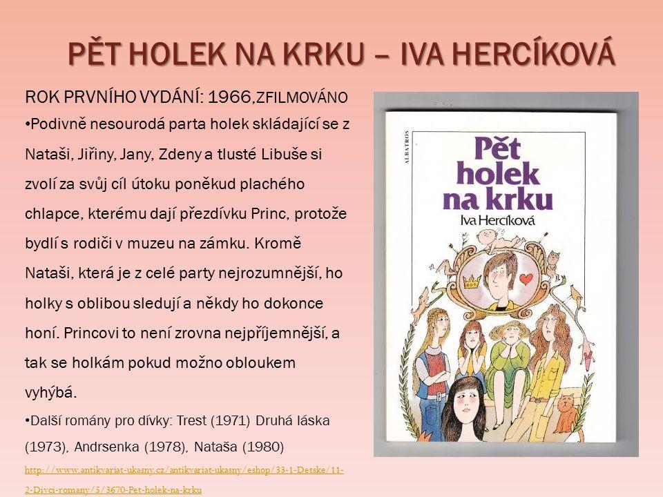  http://www.antikvariat-judaica.cz/content/robinsonka-0 http://www.antikvariat-judaica.cz/content/robinsonka-0  http://knihomol.phil.muni.cz/katalog/title/metracek-rudolf-s-1990-240311 http://knihomol.phil.muni.cz/katalog/title/metracek-rudolf-s-1990-240311  http://www.antikvariat-ukasny.cz/antikvariat-ukasny/eshop/33-1-Detske/11-2-Divci-romany/5/3670-Pet-holek-na-krku http://www.antikvariat-ukasny.cz/antikvariat-ukasny/eshop/33-1-Detske/11-2-Divci-romany/5/3670-Pet-holek-na-krku  http://klikni-a-zabav-se.blog.cz/1007/lenka-lanczova; http://www.lanczova.cz/detail_img.php?obrazek_det=knihy/61- Dvakrat-dospela_1_b.jpg http://klikni-a-zabav-se.blog.cz/1007/lenka-lanczovahttp://www.lanczova.cz/detail_img.php?obrazek_det=knihy/61- Dvakrat-dospela_1_b.jpg  http://www.arara.cz/product/126602; http://baila.net/kniha/45291016/popelcin-valcik-jarmila-dedkova http://www.arara.cz/product/126602http://baila.net/kniha/45291016/popelcin-valcik-jarmila-dedkova  https://www.kosmas.cz/knihy/179874/osudova-vterina/ https://www.kosmas.cz/knihy/179874/osudova-vterina/  http://antikvariat.xrs.cz/produkt/vera-rehackova-jsi-jednicka-zuzko http://antikvariat.xrs.cz/produkt/vera-rehackova-jsi-jednicka-zuzko  http://neoluxor.cz/detske/kdyz-machri-maji-iq-tykve--18247/ http://neoluxor.cz/detske/kdyz-machri-maji-iq-tykve--18247/  http://www.databazeknih.cz/knihy/muj-kamarad-blesk-95191 http://www.databazeknih.cz/knihy/muj-kamarad-blesk-95191  http://www.knihcentrum.cz/mam-te-rada-cilko/d-72568/ http://www.knihcentrum.cz/mam-te-rada-cilko/d-72568/  http://www.databazeknih.cz/knihy/osudova-laska-30726 http://www.databazeknih.cz/knihy/osudova-laska-30726  http://www.databazeknih.cz/zivotopis/lisa-jane-smith-7546 http://www.databazeknih.cz/zivotopis/lisa-jane-smith-7546  http://www.upiri-deniky.cz/o-knihach/upiri-deniky/ http://www.upiri-deniky.cz/o-knihach/upiri-deniky/  http://www.fragment.cz/prehled/knihy-pro-deti-a-mladez/fantasy-sci-fi-horory-dystopie/upiri-deniky/upiri-deniky- probuzeni-s3591