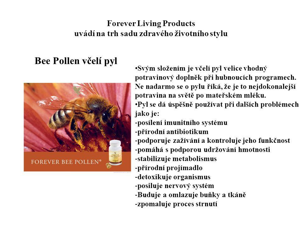 Forever Living Products uvádí na trh sadu zdravého životního stylu Bee Pollen včelí pyl Svým složením je včelí pyl velice vhodný potravinový doplněk p