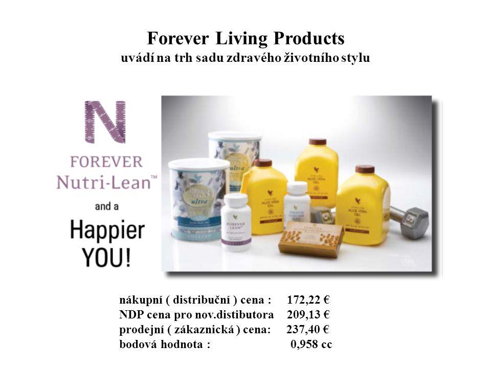 Forever Living Products uvádí na trh sadu zdravého životního stylu nákupní ( distribuční ) cena : 172,22 € NDP cena pro nov.distibutora 209,13 € prode