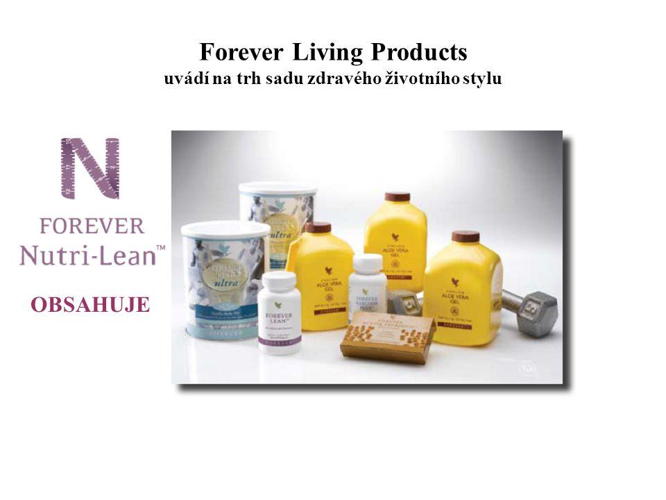 Forever Living Products uvádí na trh sadu zdravého životního stylu U Forever Nutri-Lean™ Pak si máme možnost vybrat z těchto nápojů z Aloe Vera 3x Aloe Vera Gel 3x Aloe Berry Nectar 3x Aloe Bits n´Peaches