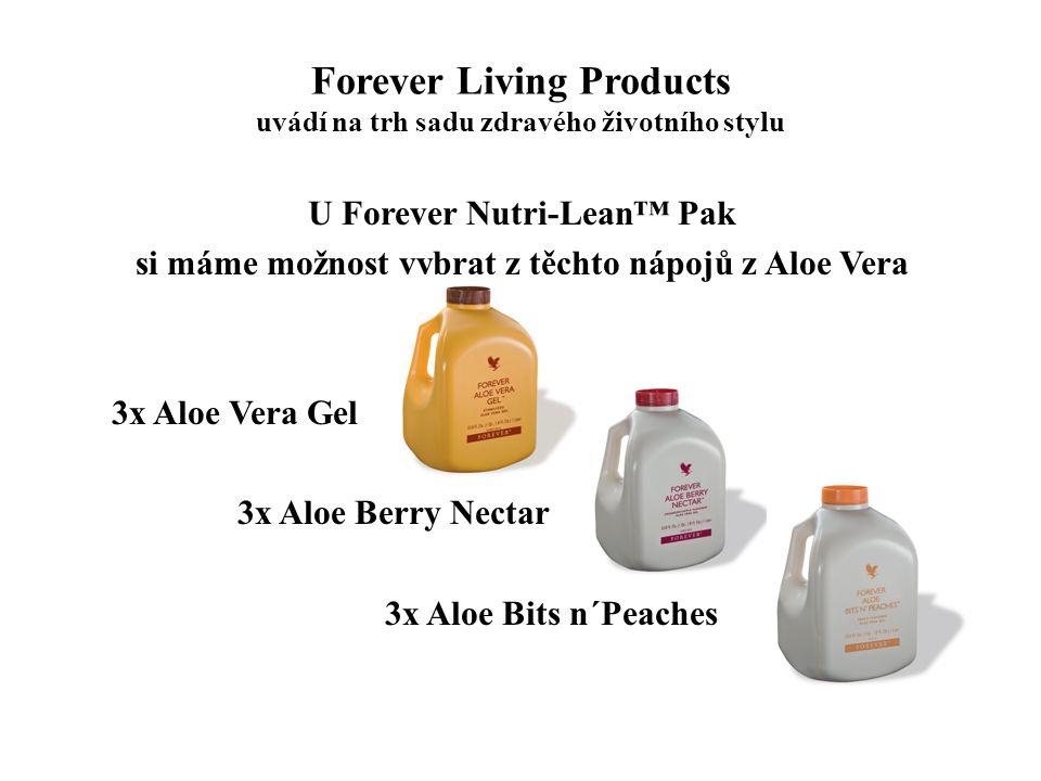 Forever Living Products uvádí na trh sadu zdravého životního stylu U Forever Nutri-Lean™ Pak si máme možnost vybrat z těchto nápojů z Aloe Vera 3x Alo