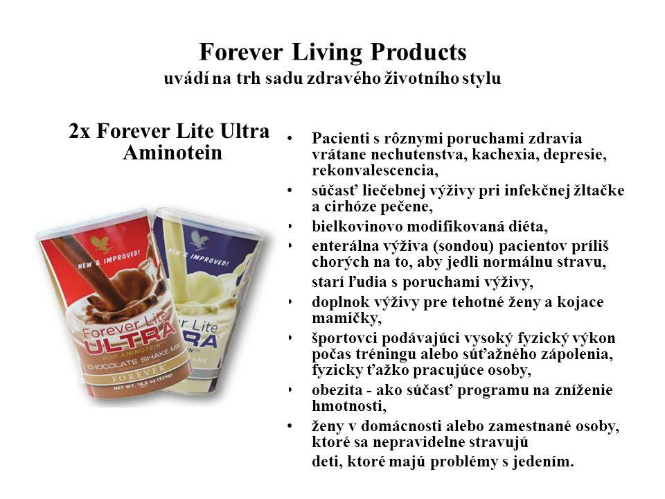 Forever Living Products uvádí na trh sadu zdravého životního stylu Forever Garcinia Plus GARCINIA CAMBOGIAextrakt 500 mg Pikolinát chrómu 100 µg Saflorový olej Triglyceridy - MCT včelí vosk, lecitín, med, žen-šen, zlata šalvia, kys.askorbová (vitamín C) znižuje chuť k jedlu a obmedzuje pocit hladu, urýchľuje schopnosť tela spaľovať kalórie, obezita - ako súčasť programu na kontrolu hmotnosti, obmedzuje tvorbu tukov z energie prijatej stravou, udržiava správny svalový tonus, chráni sliznicu žalúdka pred tvorbou žalúdkových vredov - antiulcerózny účinok, pomáha stabilizovať hladinu krvného cukru.