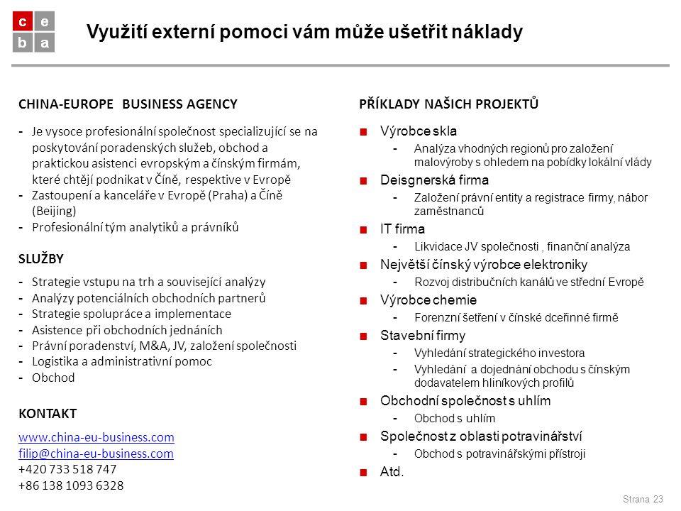 Využití externí pomoci vám může ušetřit náklady Strana 23 - Je vysoce profesionální společnost specializující se na poskytování poradenských služeb, o