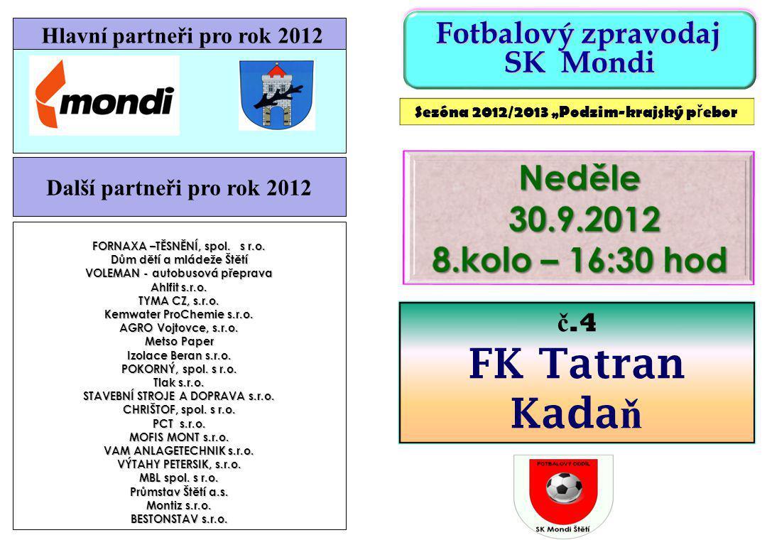 Tabulka KP po 7.kole V 8.kole se nehraje ž ádné okresní derby H.JiřetínStrupčice29.09.