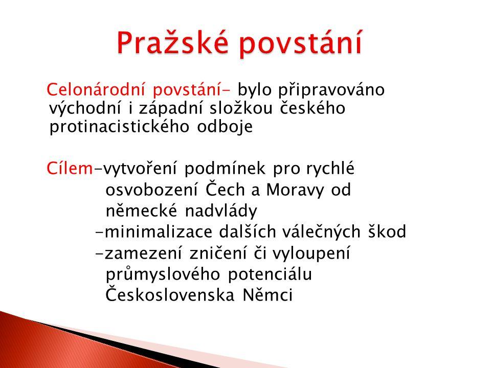 Je rok 1945,válka v Evropě je skoro u konce, na území Čech a Moravy se nacházela miliónová Schörnerova armáda -měla rozkaz udržet se na území Protektorátu co nejdéle K.H.Frank vedl s protektorátní vládou rozhovory o nenásilném předání moci V Praze měl převzít moc Dr.