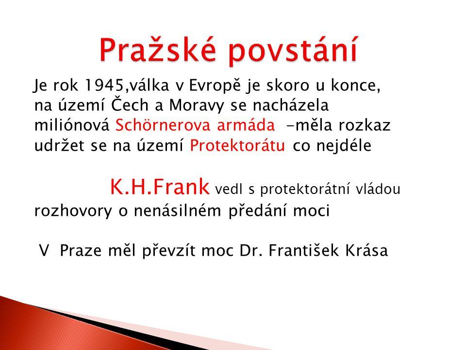 Podnětem nepokojů v Praze – oznámení vydané 4.5.1945 protektorátní vládou o zrušení nařízení týkající se dvojjazyčného úřadování 5.5.1945 začali lidé odstraňovat německé cedule,pálili je a vyvěšovali československé vlajky