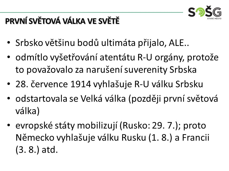 Kolonialismus Srbsko většinu bodů ultimáta přijalo, ALE..