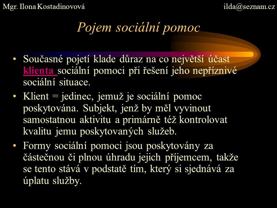 Sociální pomoc a její znaky Z hlediska sociální politiky ji lze chápat jako poslední síť sociální ochrany, resp.