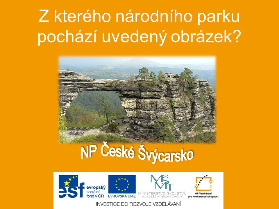 Z kterého národního parku pochází uvedený obrázek?