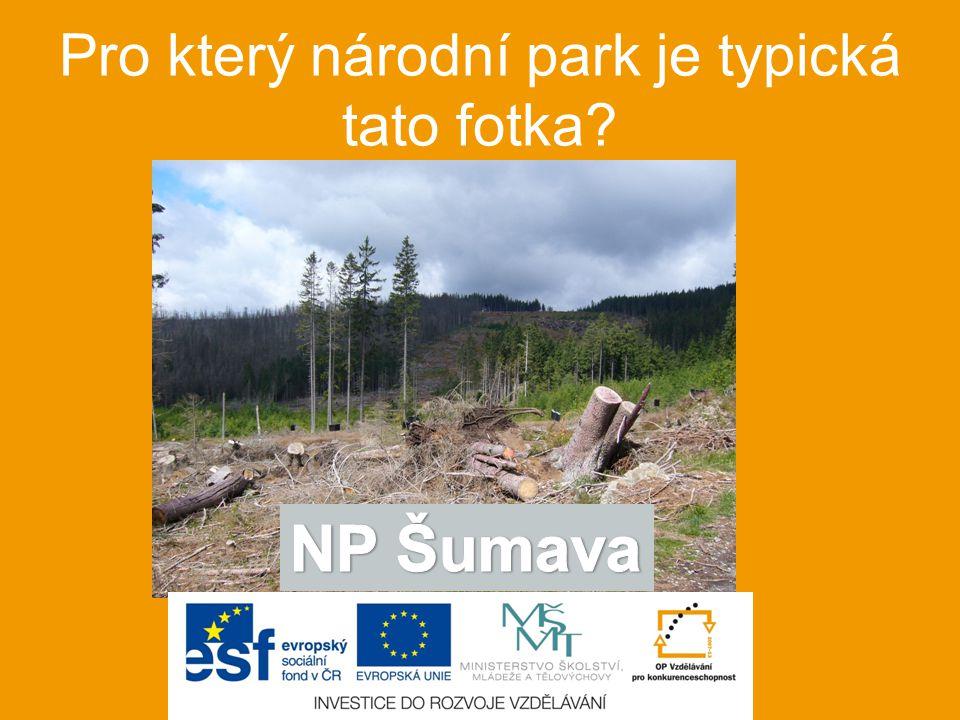Pro který národní park je typická tato fotka?