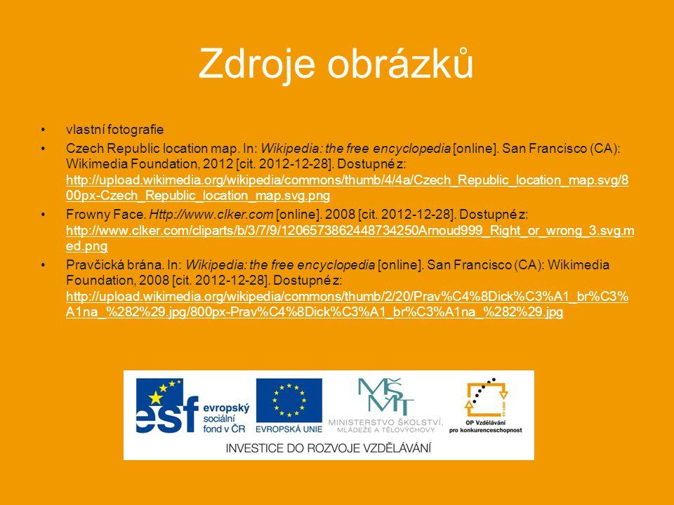 Zdroje obrázků vlastní fotografie Czech Republic location map.