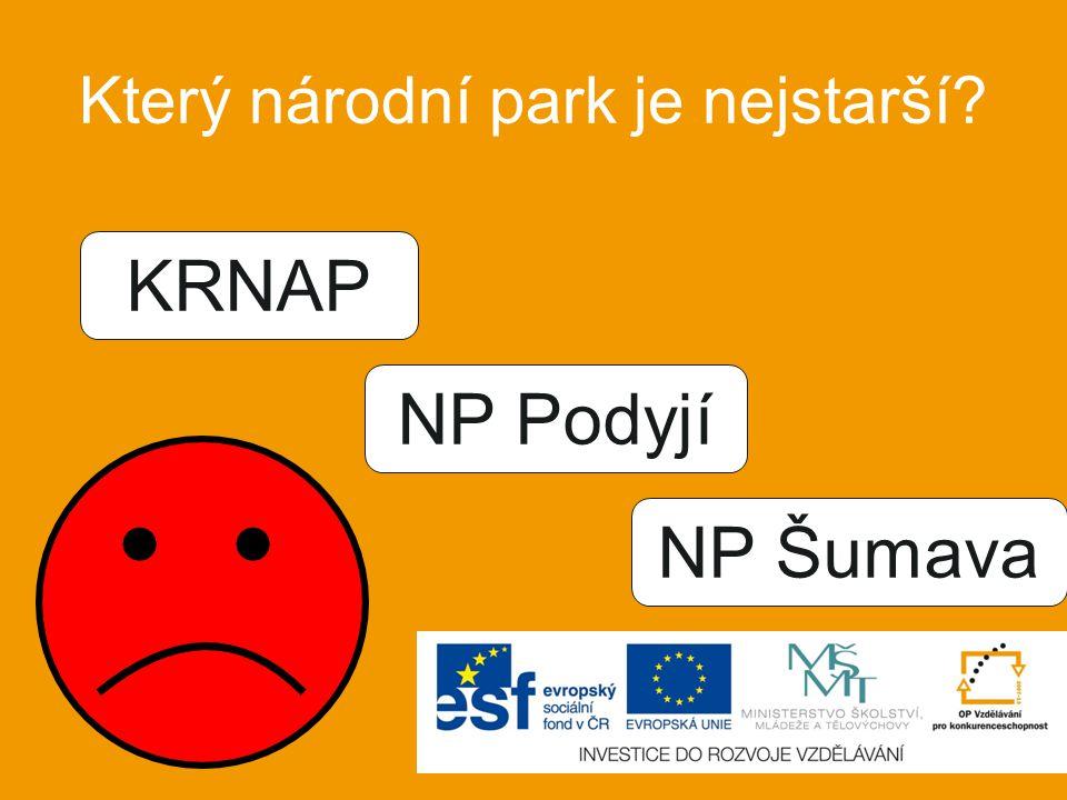 V kterém roce byl KRNAP vyhlášen národním parkem? 1963 1973 1983