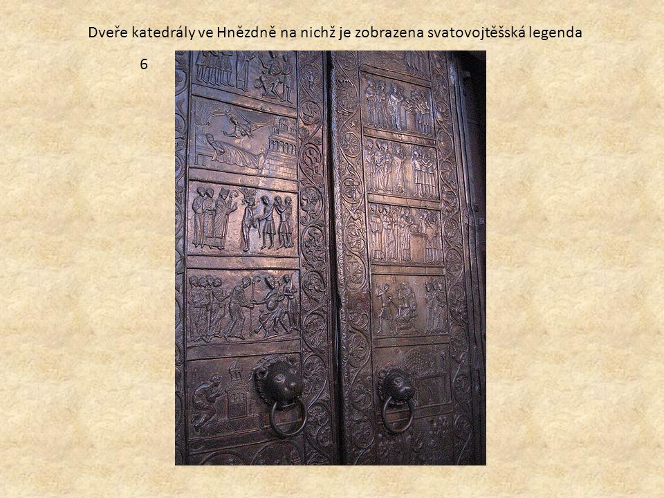 Dveře katedrály ve Hnězdně na nichž je zobrazena svatovojtěšská legenda 6