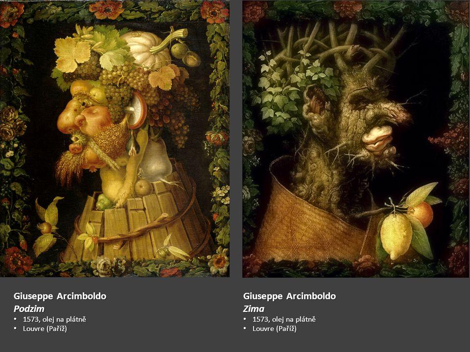 Giuseppe Arcimboldo Podzim 1573, olej na plátně 1573, olej na plátně Louvre (Paříž) Louvre (Paříž) Giuseppe Arcimboldo Zima 1573, olej na plátně 1573, olej na plátně Louvre (Paříž) Louvre (Paříž)