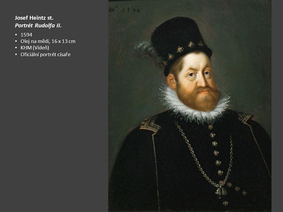 Josef Heintz st.Portrét Rudolfa II.