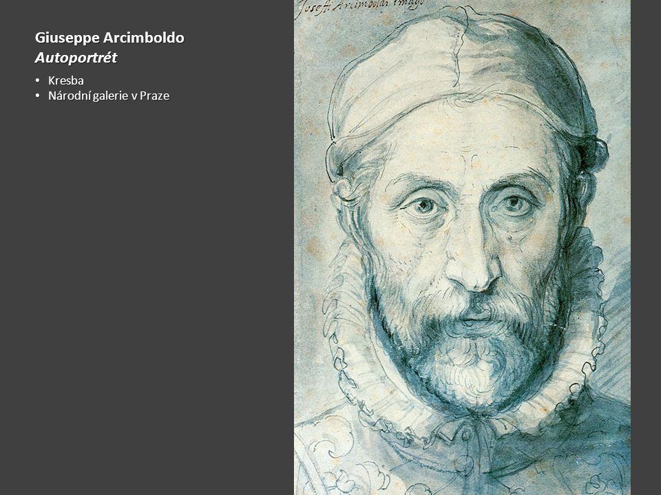 Giuseppe Arcimboldo Autoportrét Kresba Kresba Národní galerie v Praze Národní galerie v Praze