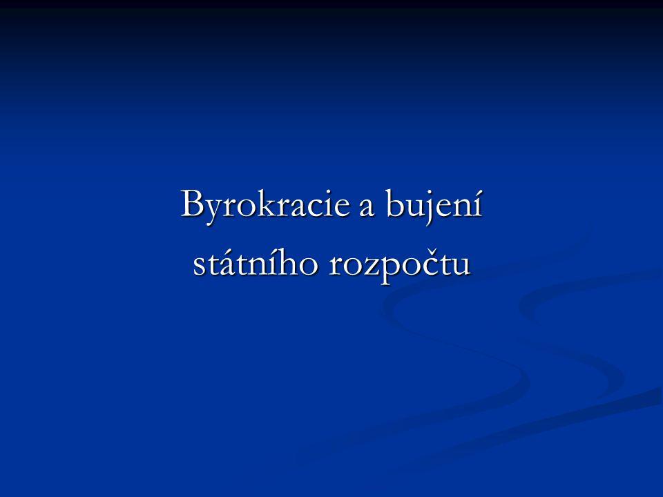 Byrokracie a bujení státního rozpočtu