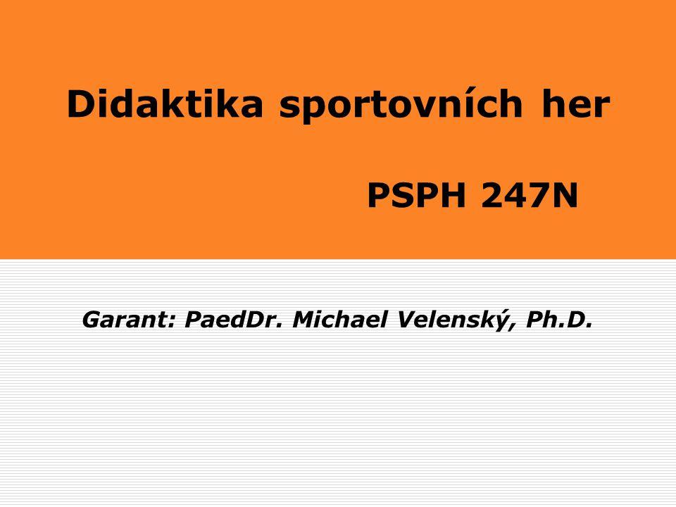 Basketbal PaedDr.Michael Velenský, Ph.D. 1.