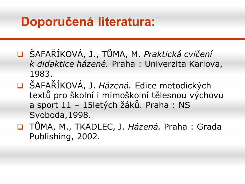  BUZEK, M., PROCHÁZKA, L.Česká fotbalová škola. Praha : Olympia, 1999.