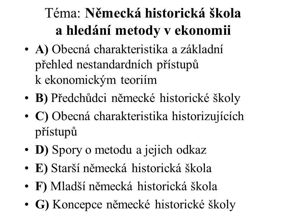 Ukázka doporučené literatury v jazyce českém (blíže viz sylabus předmětu) : Holman, R.