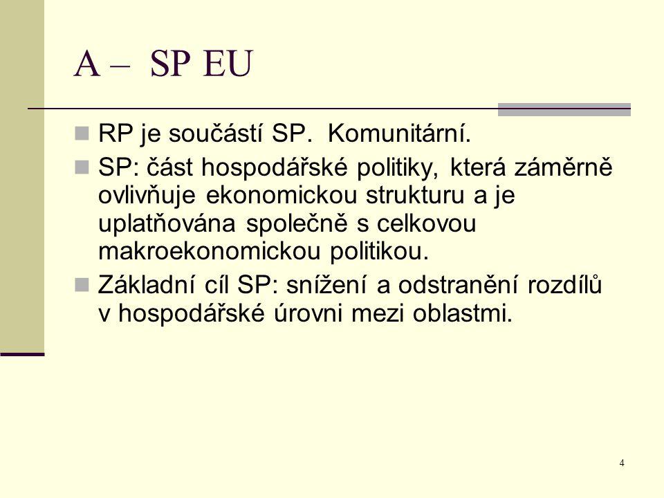 4 A – SP EU RP je součástí SP. Komunitární.