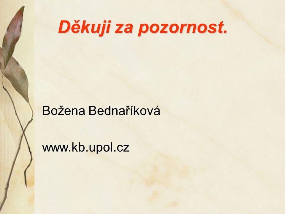 Děkuji za pozornost. Božena Bednaříková www.kb.upol.cz