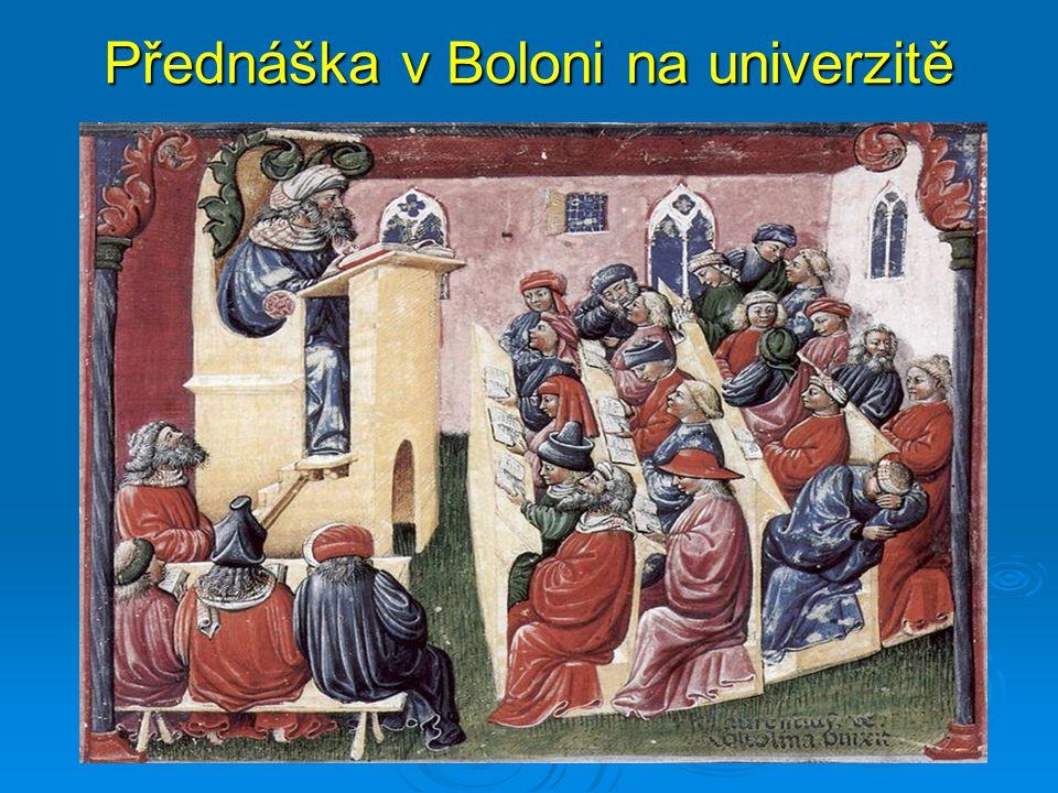 Přednáška v Boloni na univerzitě