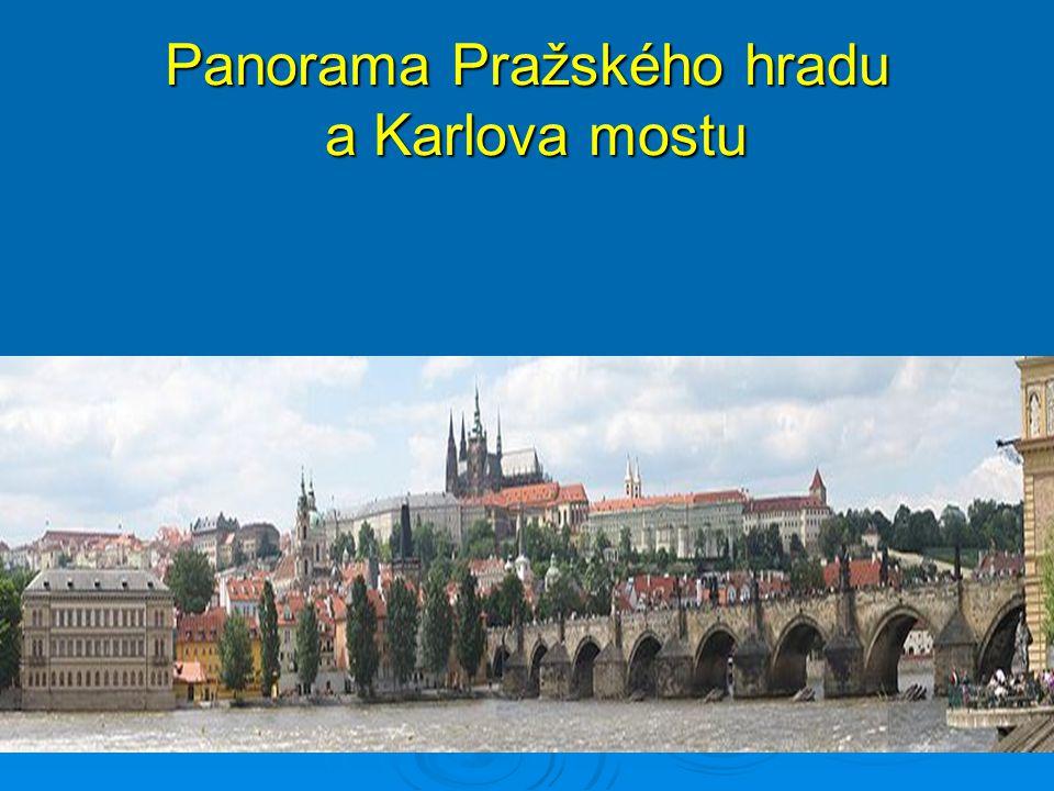 Panorama Pražského hradu a Karlova mostu