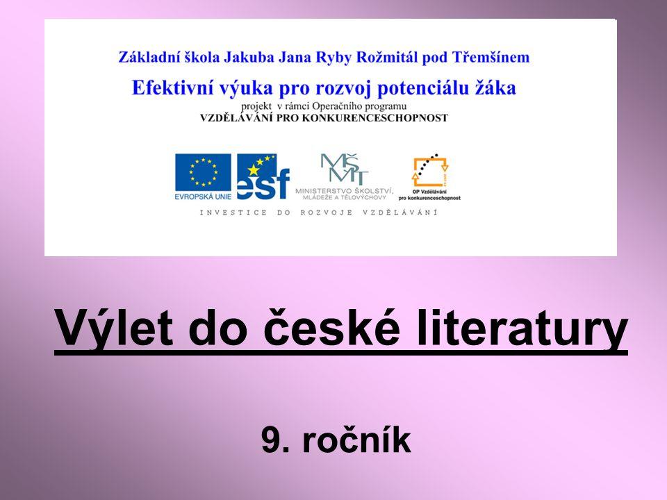 Výlet do české literatury 9. ročník