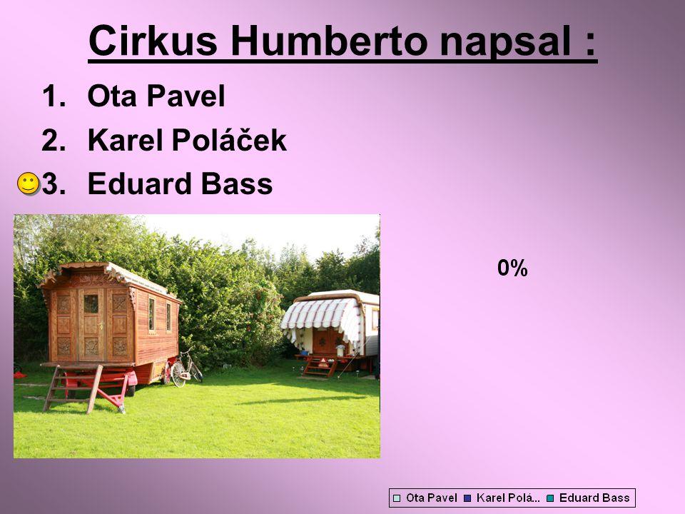Cirkus Humberto napsal : 1.Ota Pavel 2.Karel Poláček 3.Eduard Bass
