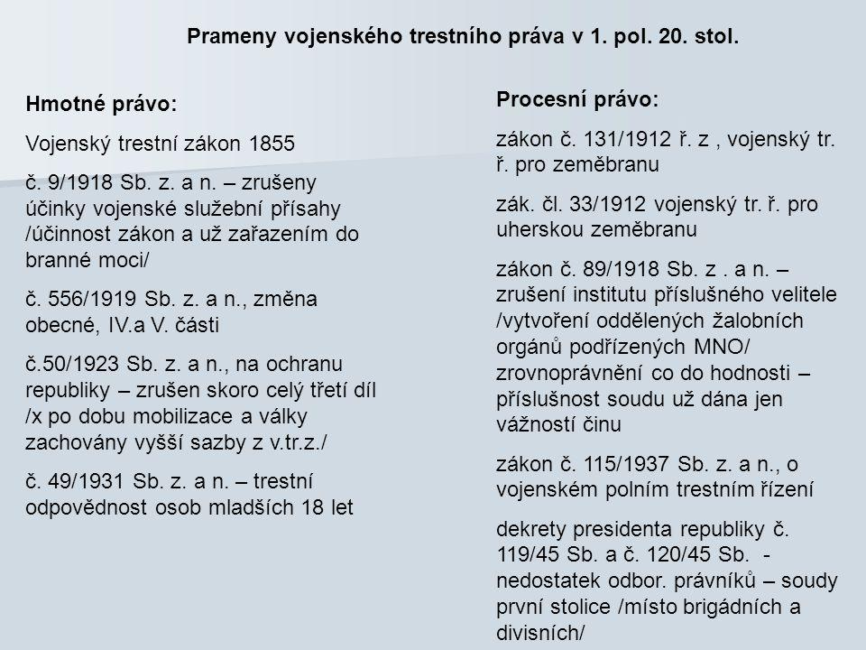 Vojenský trestní zákon z r.