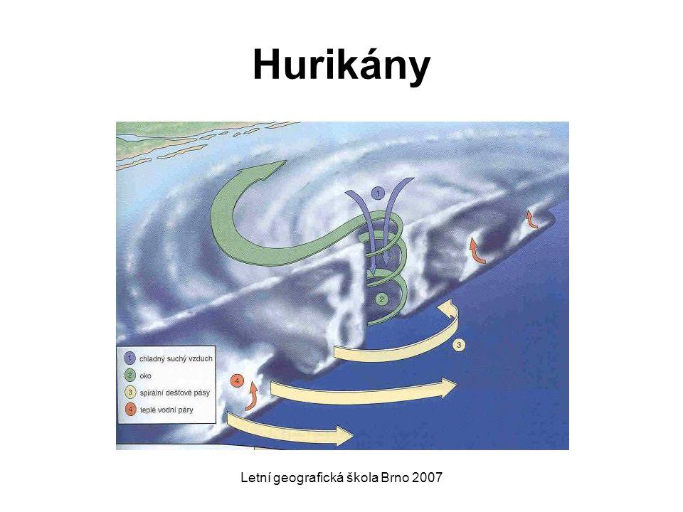 Letní geografická škola Brno 2007 Hurikány