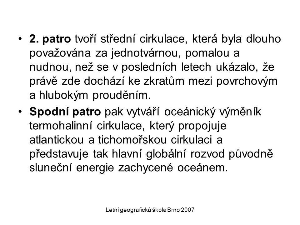 Letní geografická škola Brno 2007 2. patro tvoří střední cirkulace, která byla dlouho považována za jednotvárnou, pomalou a nudnou, než se v posledníc