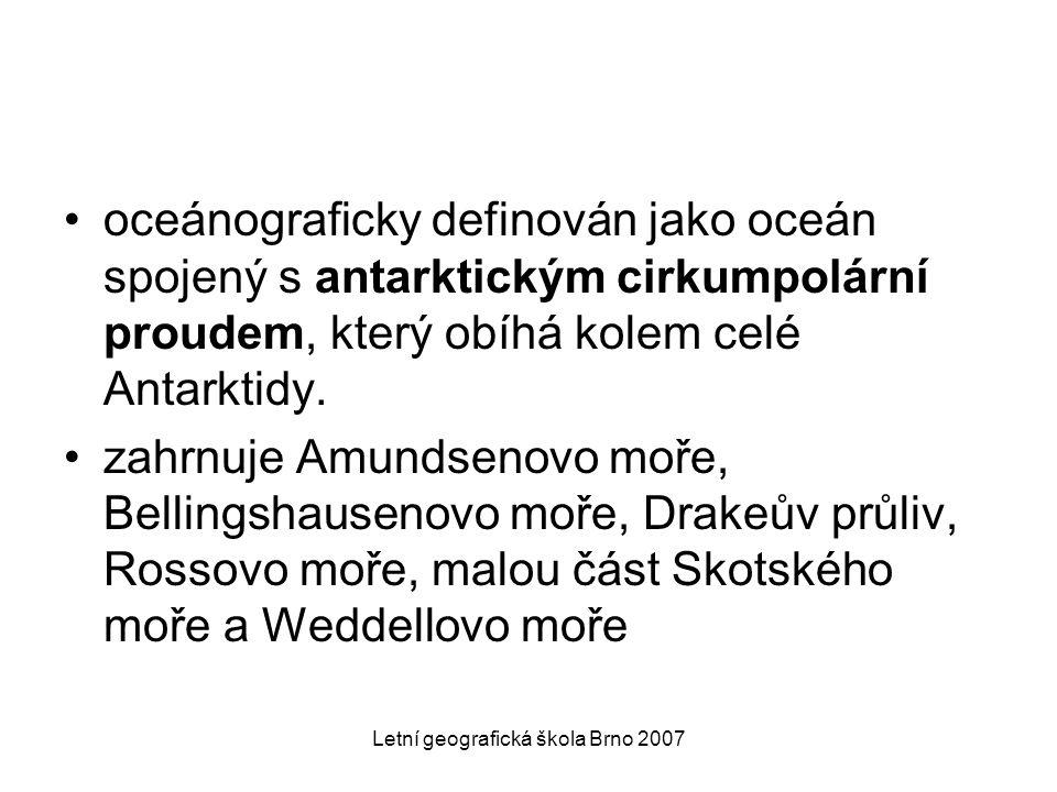Letní geografická škola Brno 2007 Cirkulace oceán – atmosféra NAO - North Atlantic Oscillation AO - Arctic Oscillation APW - Antarctic Polar Wave PDO - Pacific Decadal Oscillation ENSO - El Niño – Southern Oscillation