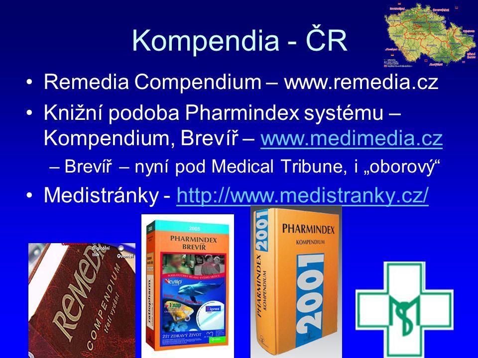 Kompendia - ČR Remedia Compendium – www.remedia.cz Knižní podoba Pharmindex systému – Kompendium, Brevíř – www.medimedia.czwww.medimedia.cz –Brevíř –