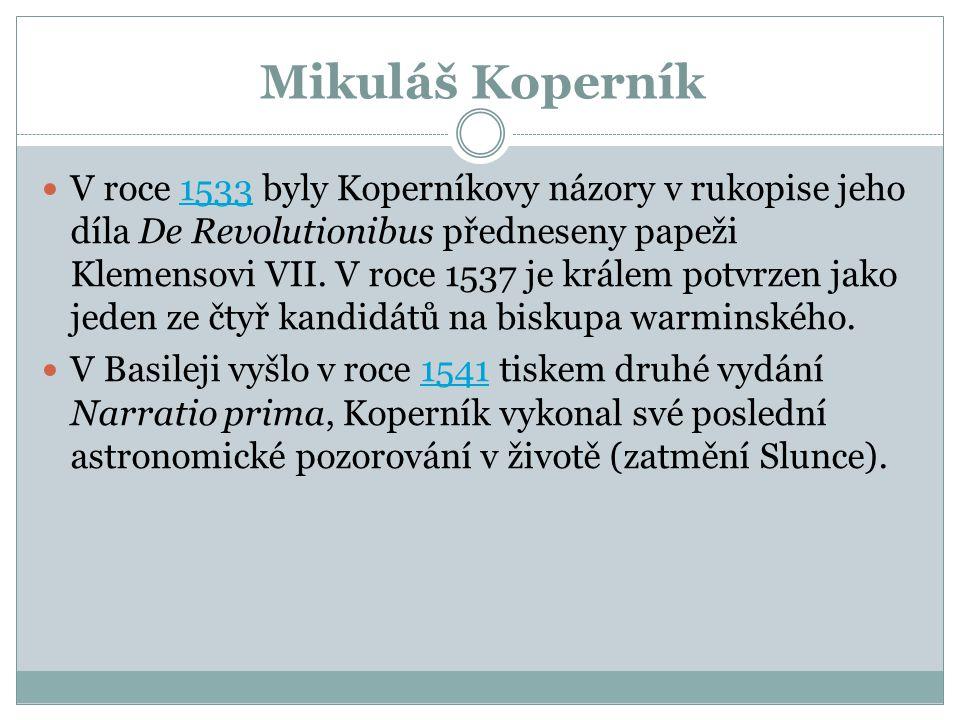 Mikuláš Koperník Co objevil?.