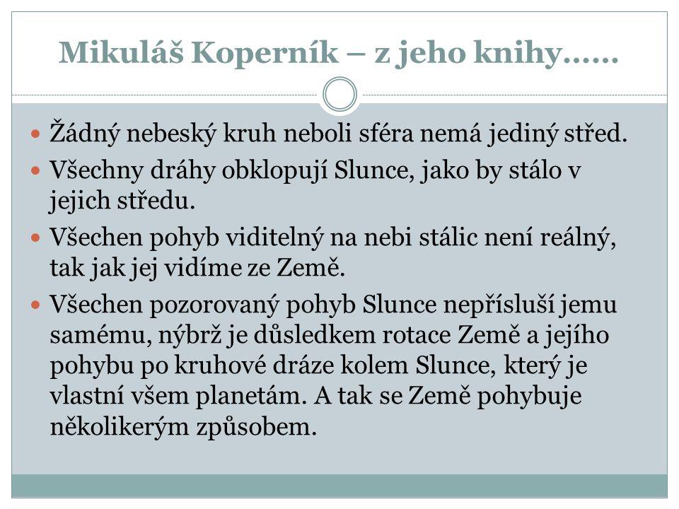 Mikuláš Koperník Karolína Šabatková 9.