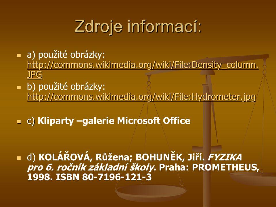 Zdroje informací: http://commons.wikimedia.org/wiki/File:Density_column.