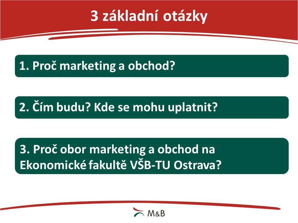 Proč marketing a obchod? Atraktivní obor merchandising reklama obchod média výzkum trhu inovace