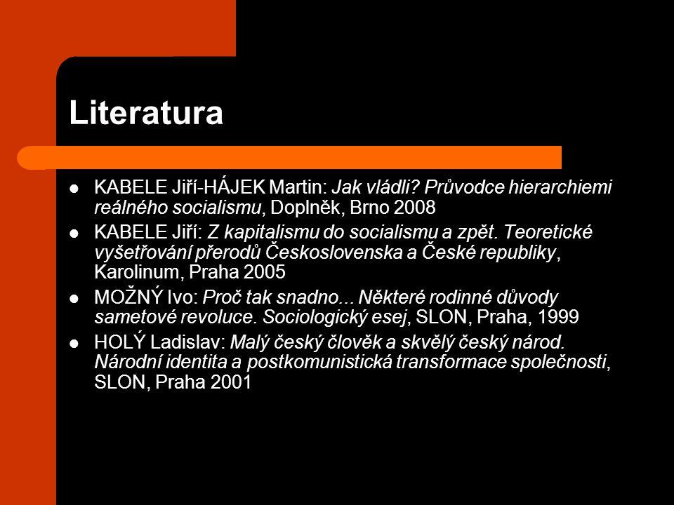 Literatura KABELE Jiří-HÁJEK Martin: Jak vládli.
