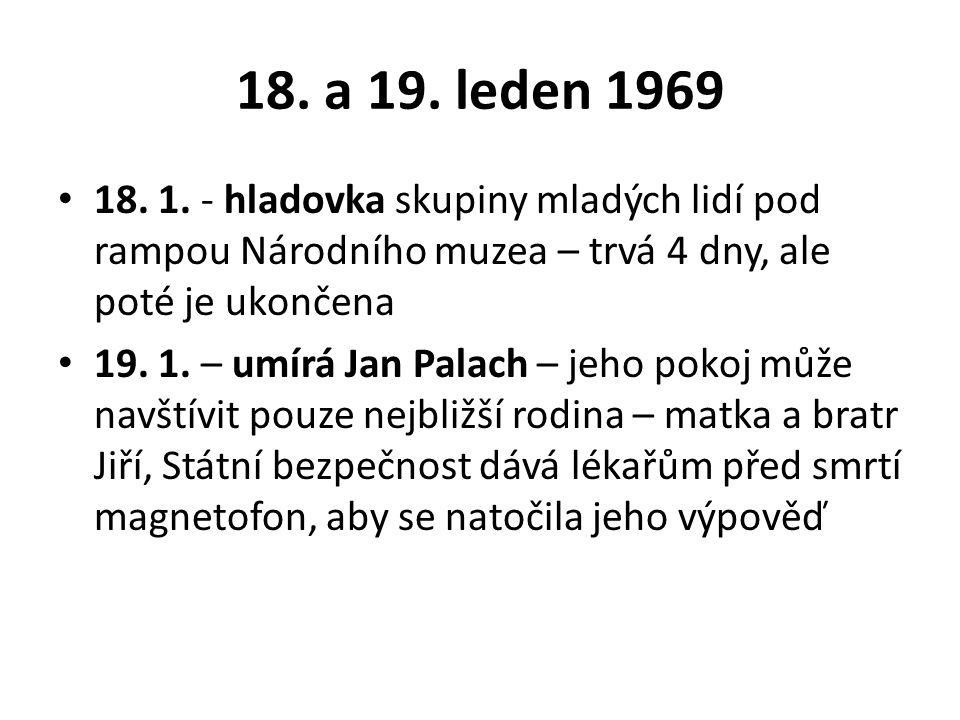 18. a 19. leden 1969 18. 1.